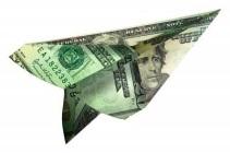 Avionote - avion en billet papier